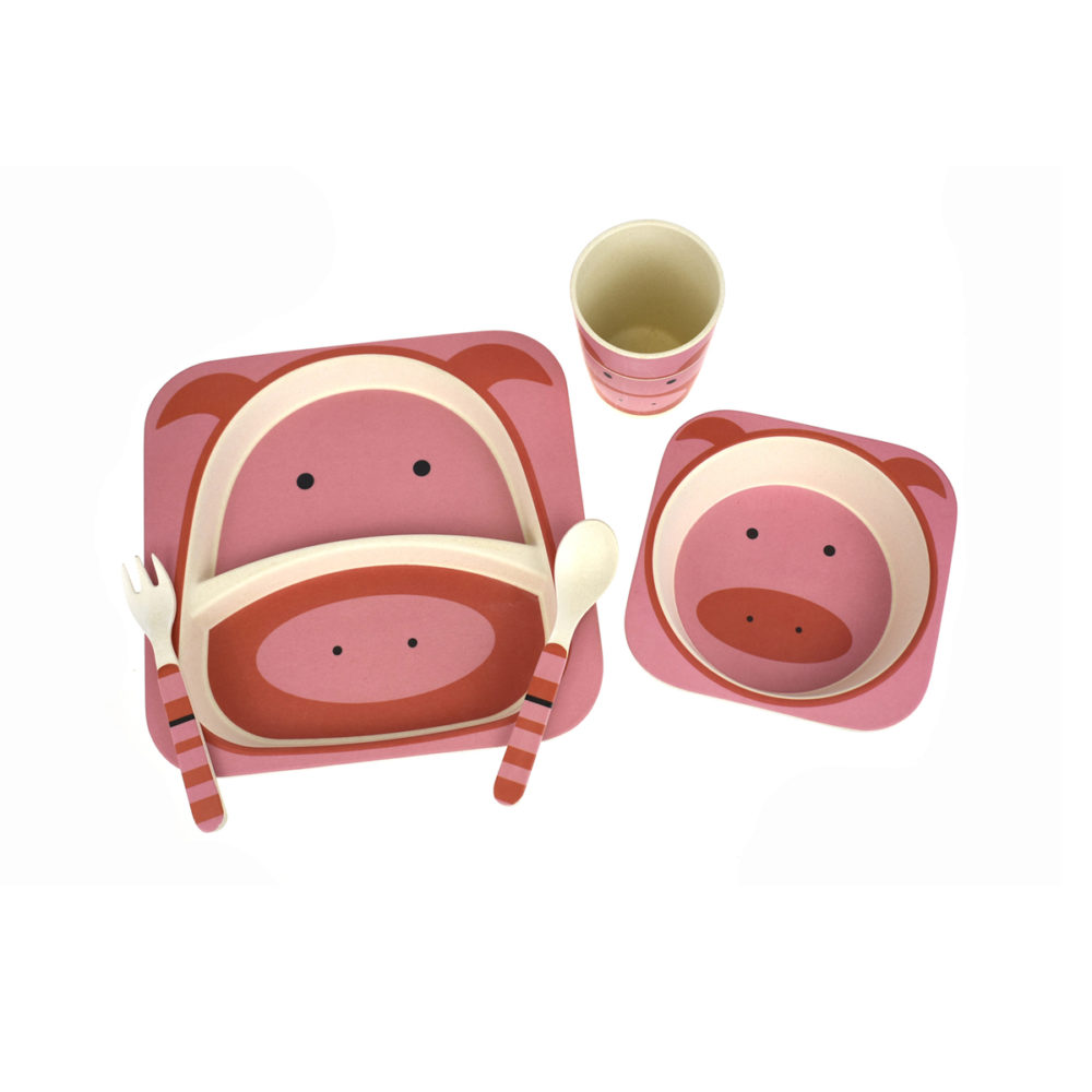 Dinnerware – 5PC – Pig - Kids Toys & Products